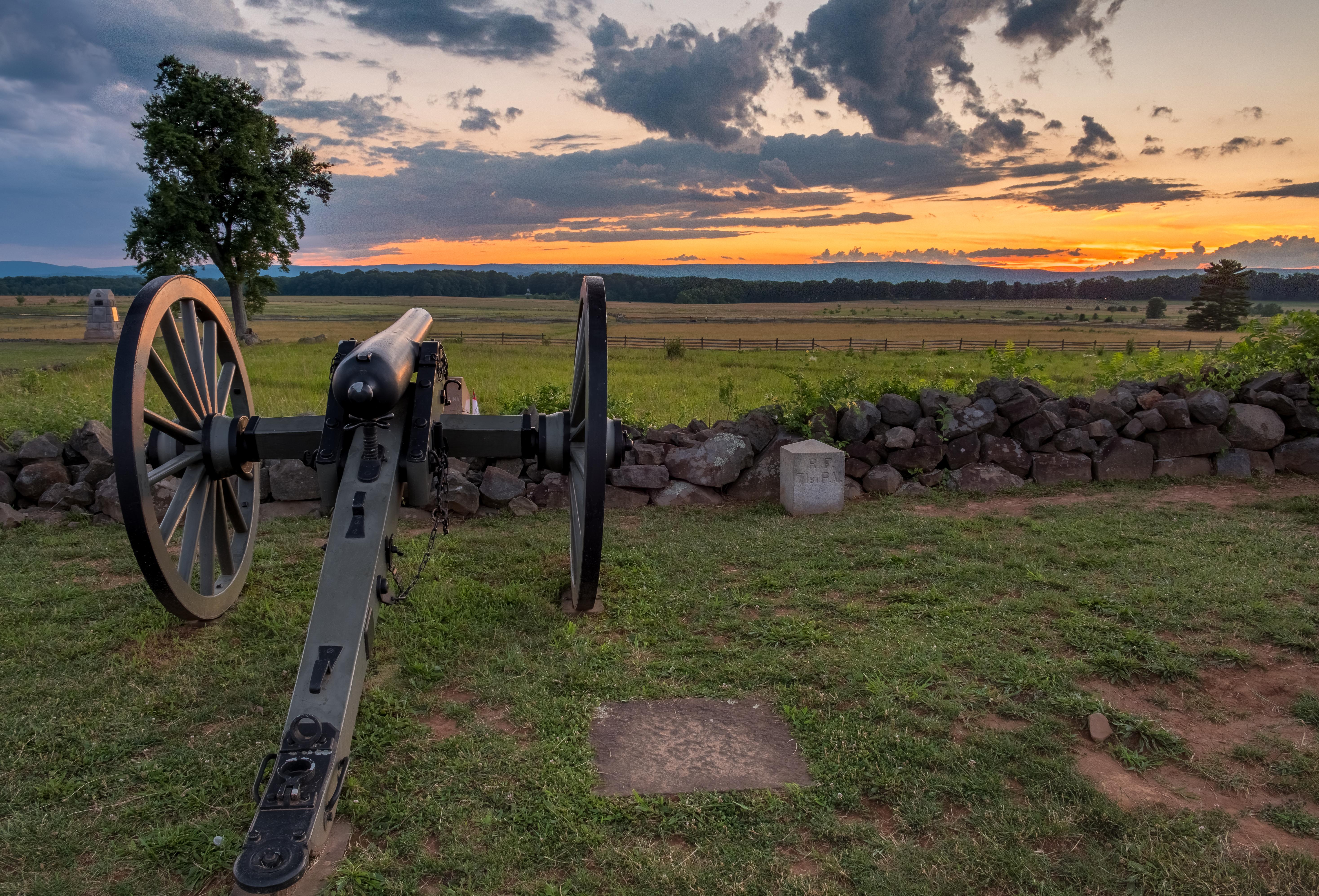 Sunset at Gettysburg National Military Park - Historic Battlefields