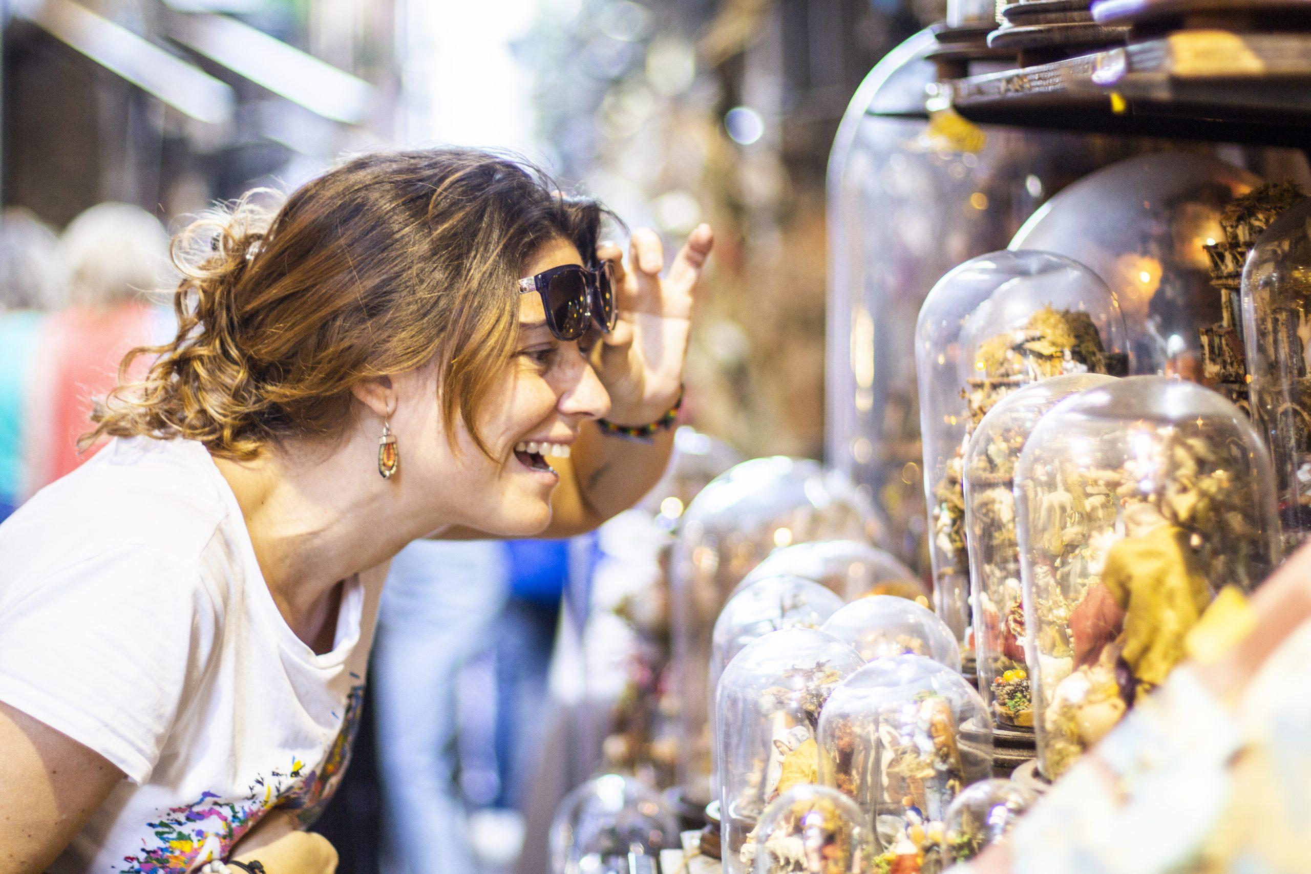Woman Shops At Art Festival