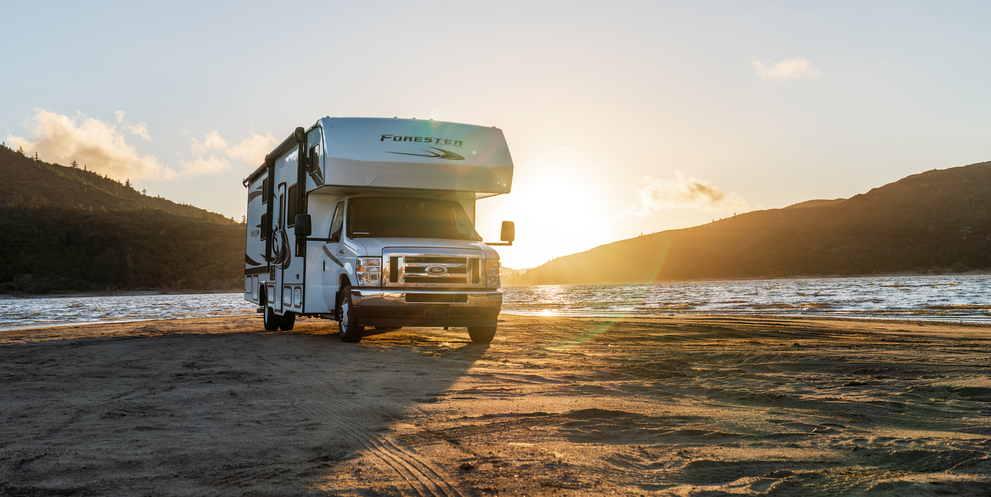 An RV with a Discover Battery battery