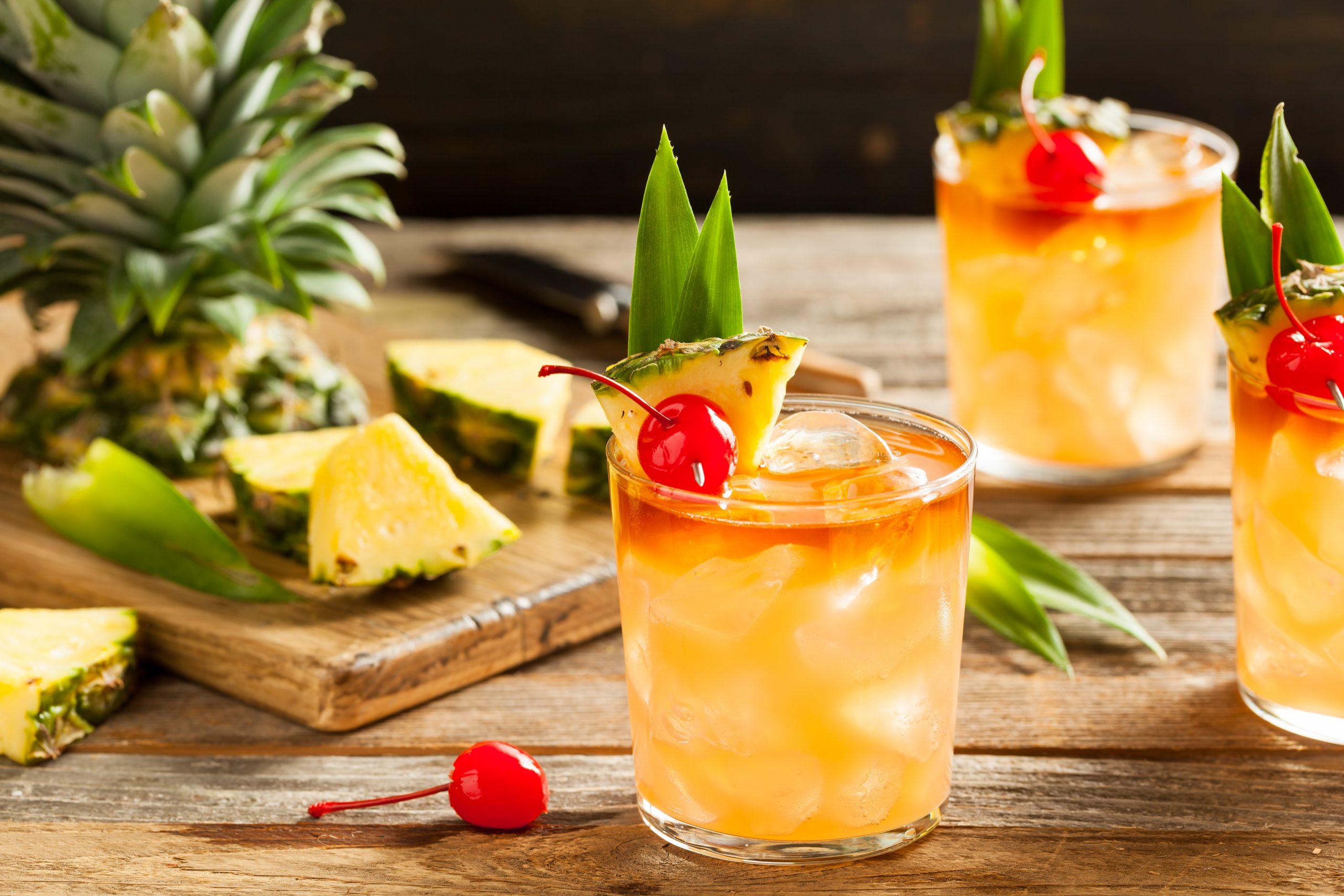 Homemade Mai Tai Summer Cocktail