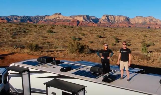 RV Solar Panel Install