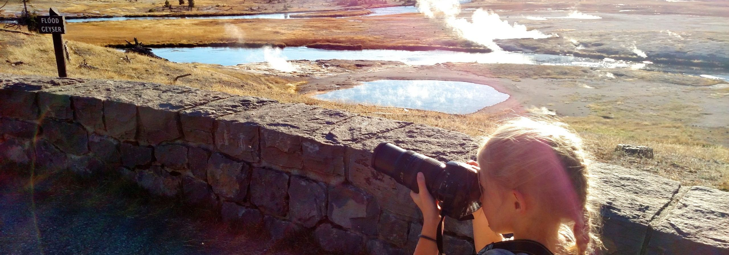 Family Trip to Yellowstone - Little Girl