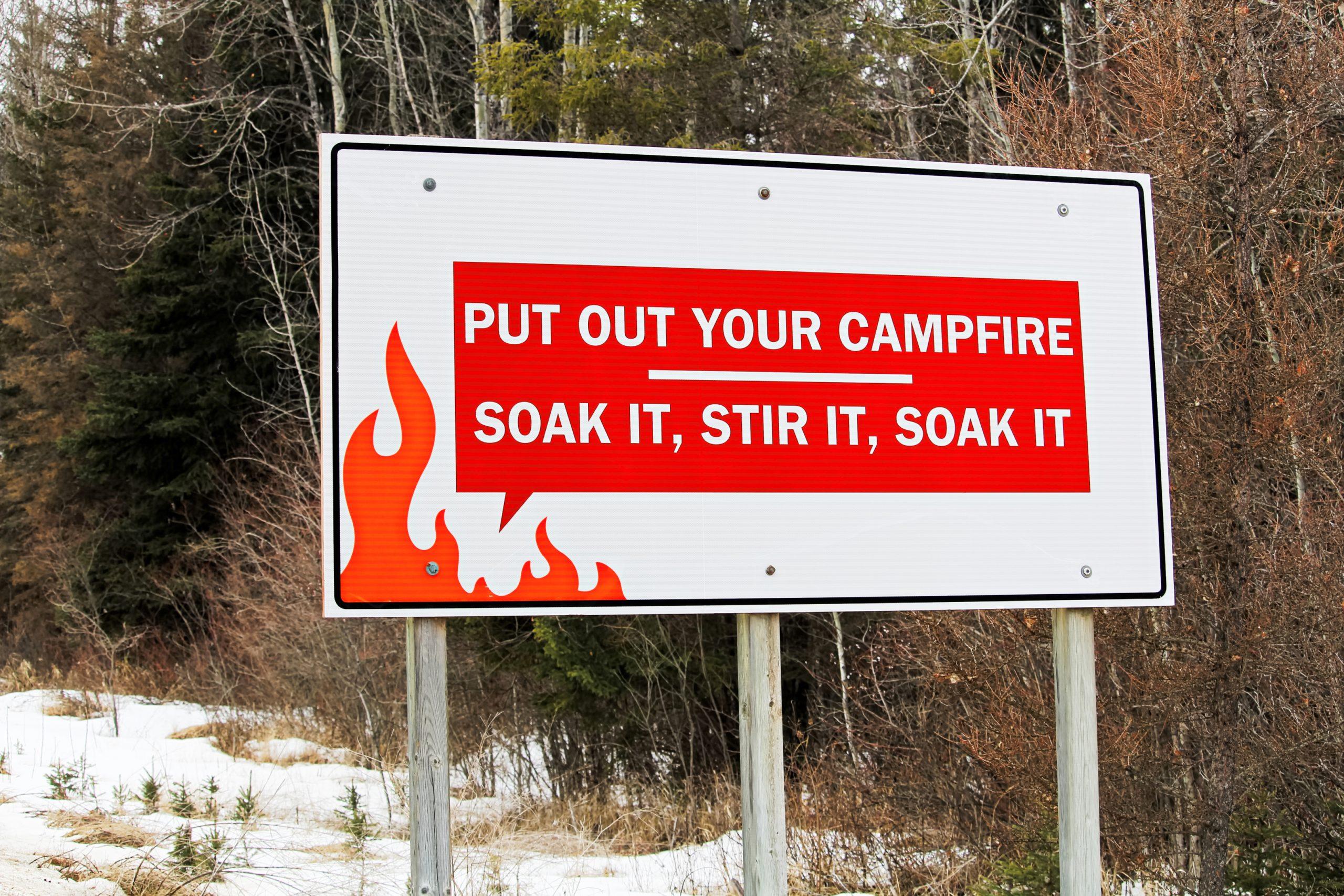 Campfire Warning Message
