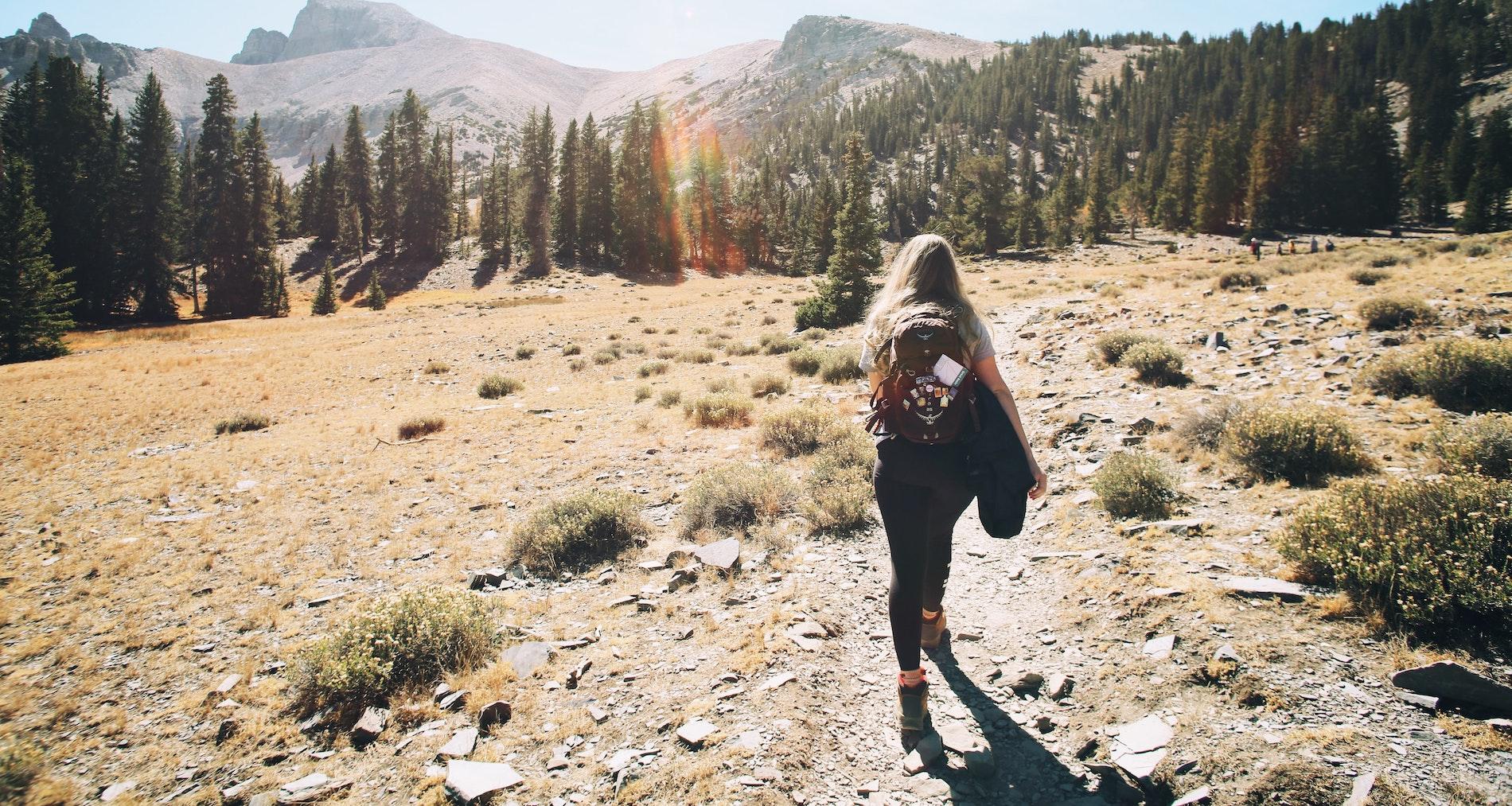 summer sun hiking and camping