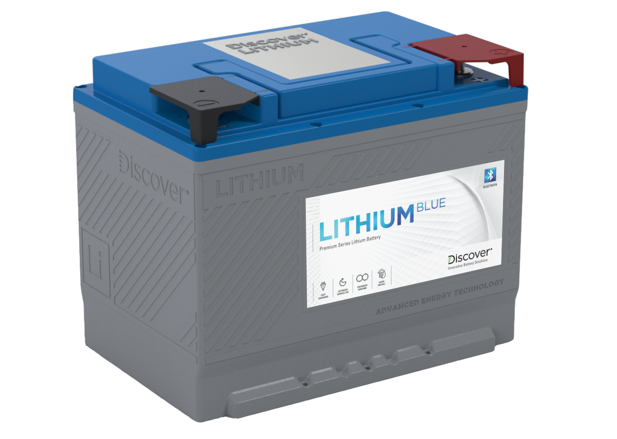 discover battery Lithium Blue