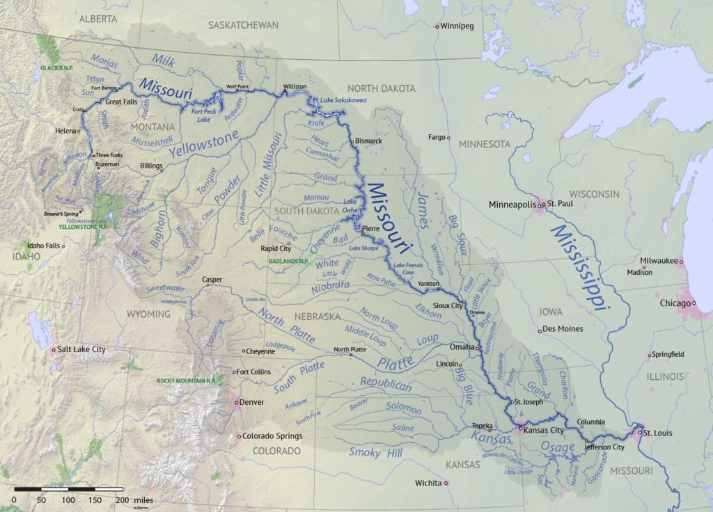 Missouri river North Dakota