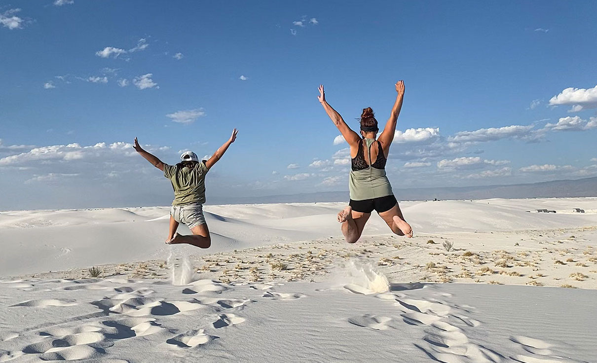 Crazy Family Adventure hiking the dunes