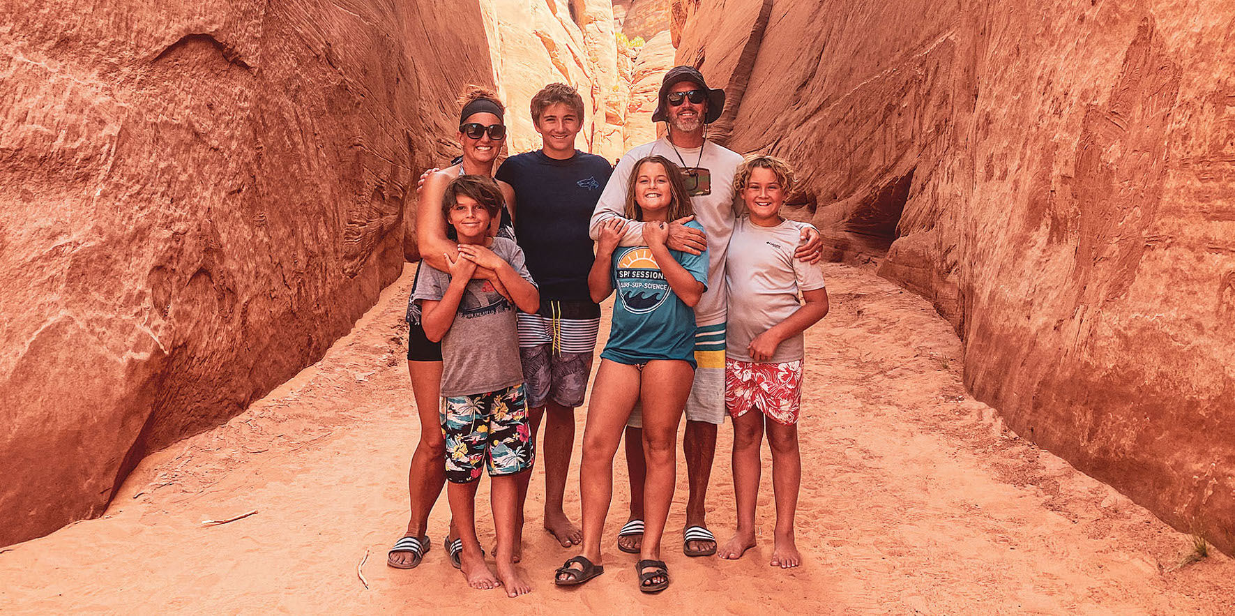 Crazy Family Adventure in a canyon