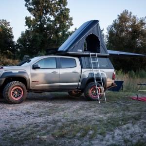 GMC Canyon AT4 OVRLANDX tent camper