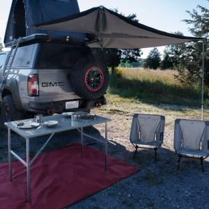 GMC Canyon AT4 OVRLANDX setup at camp