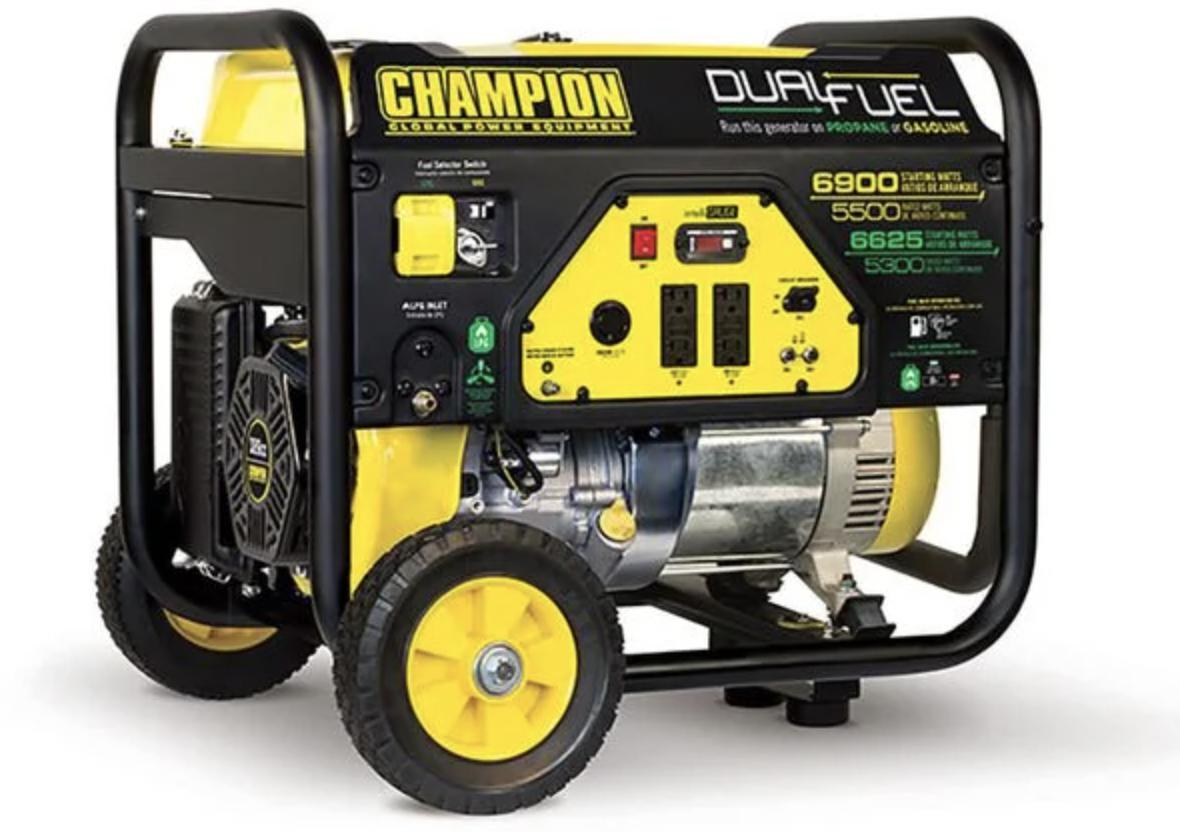 Champion 5500-Watt Dual-Fuel Portable Generator