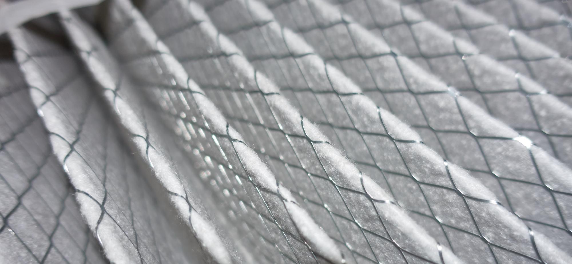 furnace air filter close-up