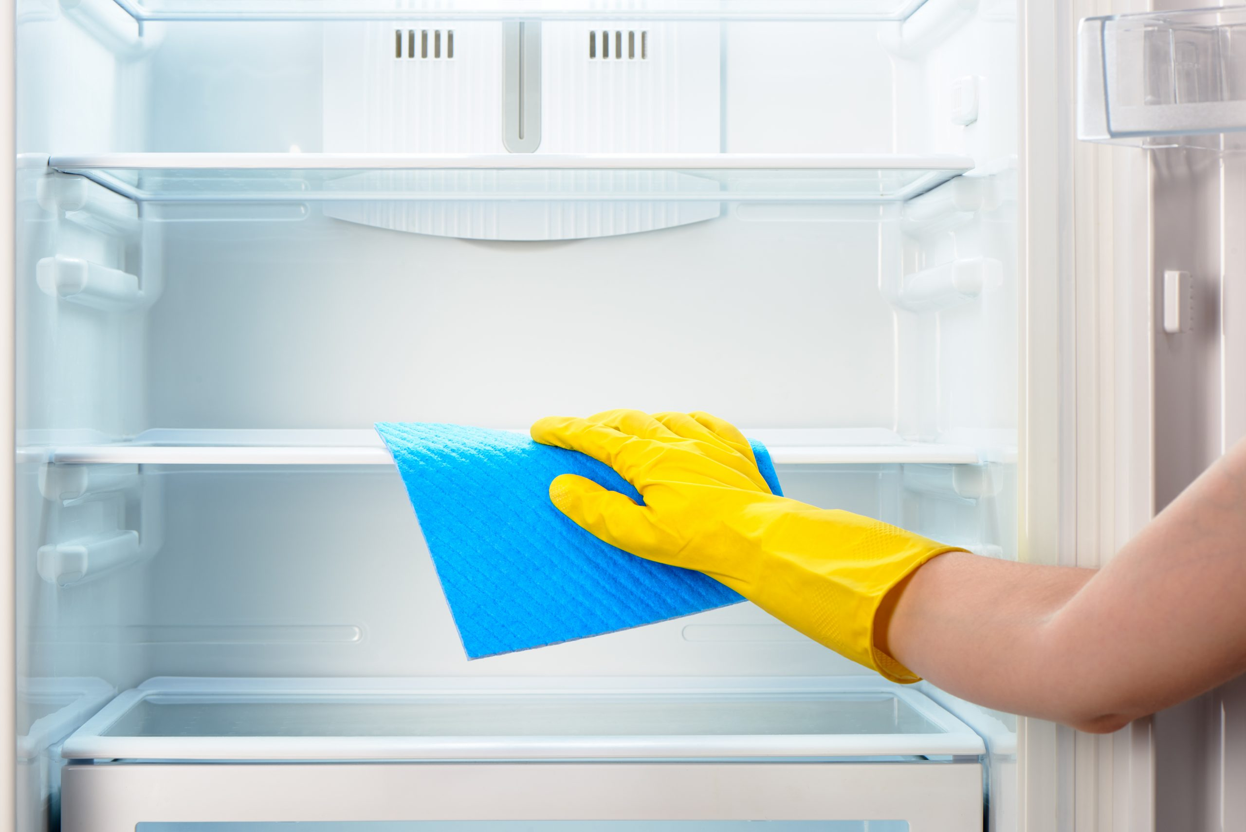 cleaning a refrigerator